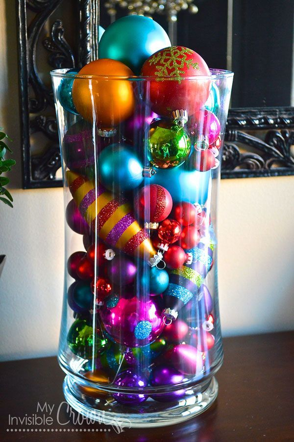 Vase Filled With Ornaments