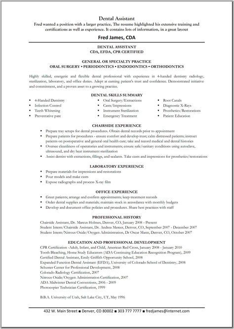 dental assistant resume sample objective cover letter template pediatric samples great templates