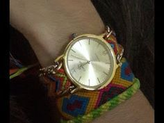 Correa de reloj en crochet - YouTube