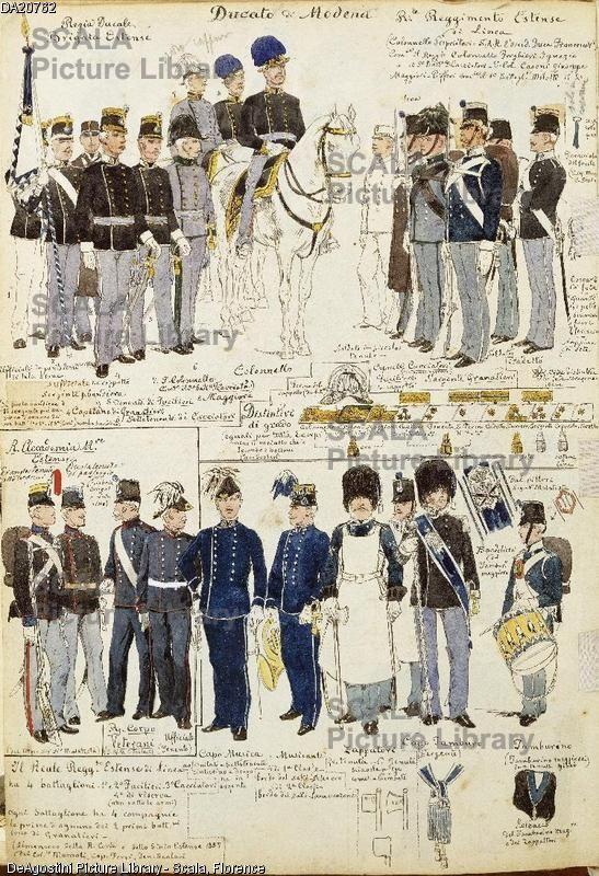 Militaria italia xix secolo uniformi varie del ducato di for Piani di fattoria del 19 secolo