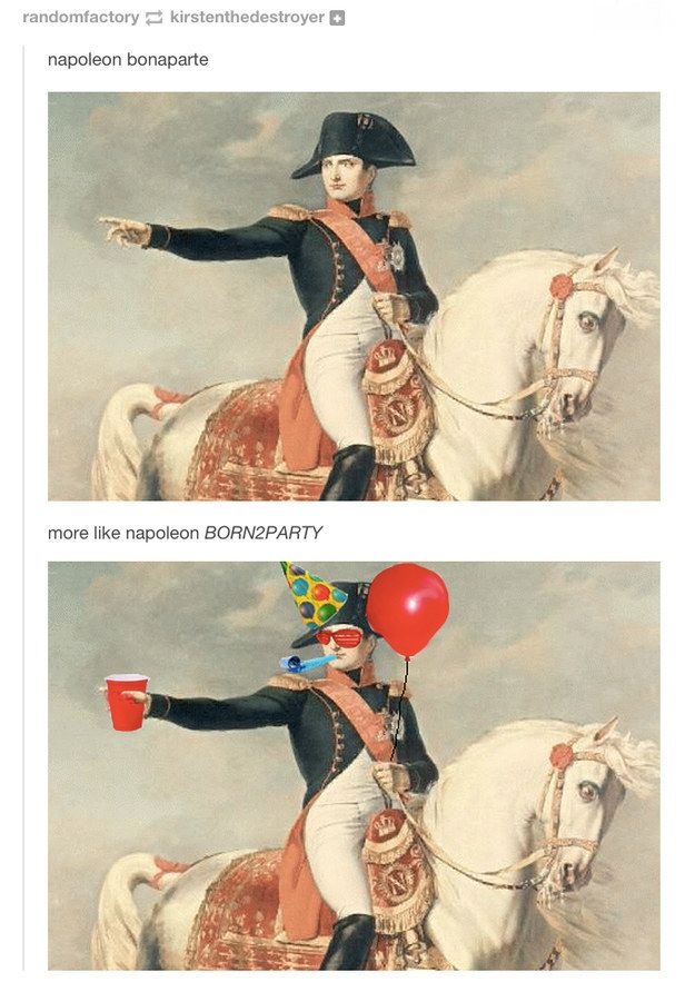 When they determined Bonaparte's true calling. | 26 Times History Was Perfectly Summed Up By Tumblr
