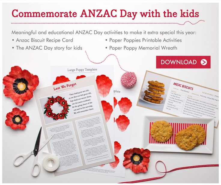 Free Anzac Day Printables ~ tinyme.com.au