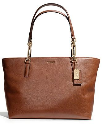 COACH MADISON EAST/WEST TOTE IN LEATHER - All Handbags - Handbags  Accessories - Macy's