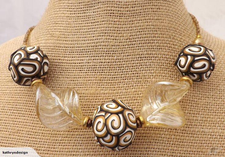 Gold, White & Black Kathryn Design NZ Chunky Necklace  Retails for $25 NZD  Gift Idea