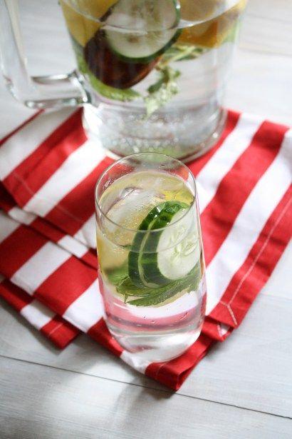 Lemon Cucumber Mint Water - The Tasty Bite