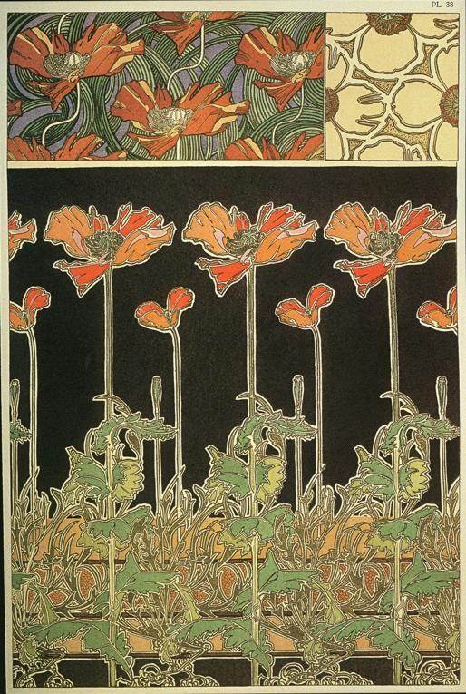 Alphonse (Alfons) Mucha - Illustration - Art Nouveau - Fleurs