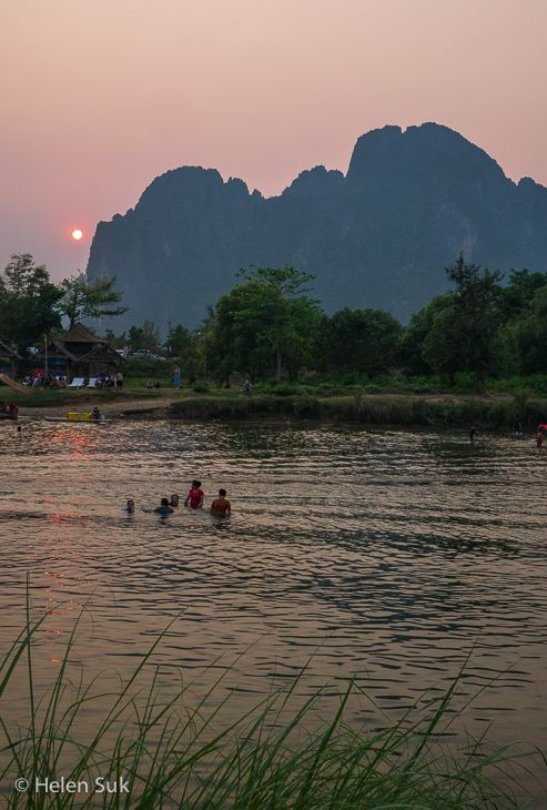 Vang Vieng has some of the most scenic landscapes in Laos. If you're seeking a quieter Southeast Asian experience with fewer crowds, this once isolated country is the answer. Get there before everyone else does. Click to read the full blog post.