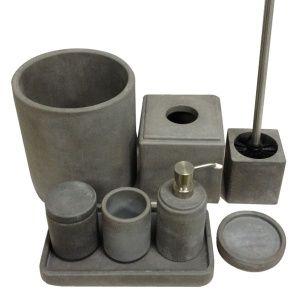 EAC0033 7PCS cement concrete bathroom set