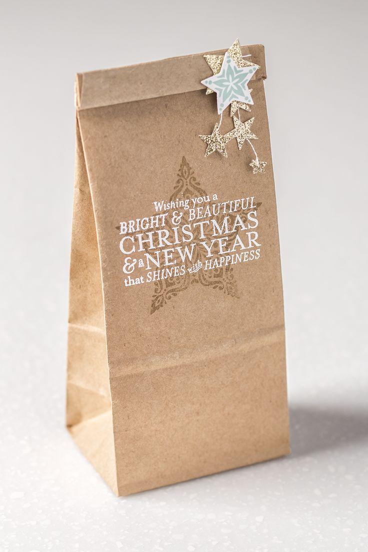 Quel joli emballage cadeau ! Facile à réaliser avec les produits Stampin' Up! #stampinup