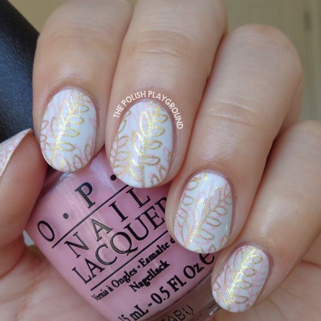 Pink and Gold Double Leaf Stamping
