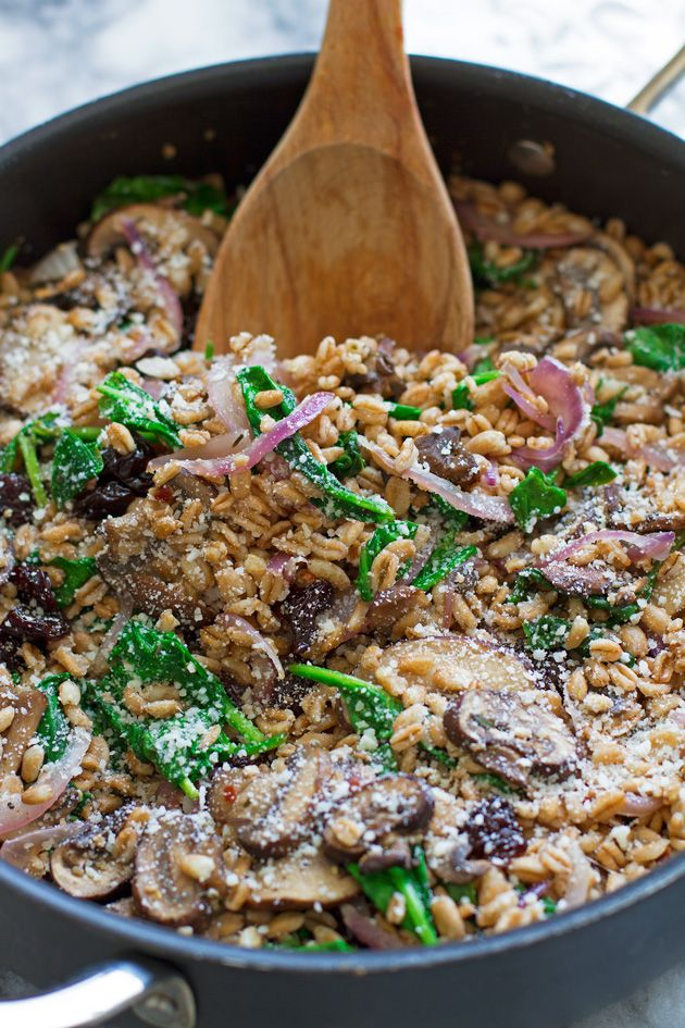 Little Spice Jar | WARM FARRO SALAD WITH SPINACH AND MUSHROOMS | http ...