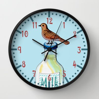 Is Mine! Wall Clock by Chicca Besso - $30.00