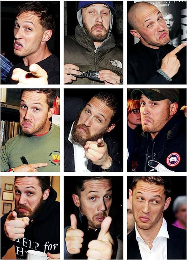 Tom Hardy - Collage of DeNiro-like faces
