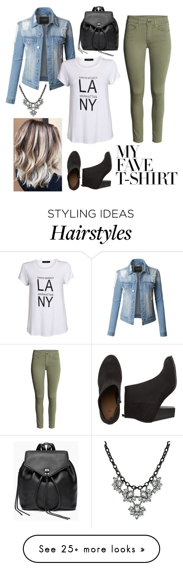 """""""Fave Tee: Contest"""" by kalye-hair on Polyvore featuring LE3NO, Rebecca Minkoff, Say Yes to the Prom and MyFaveTshirt"""