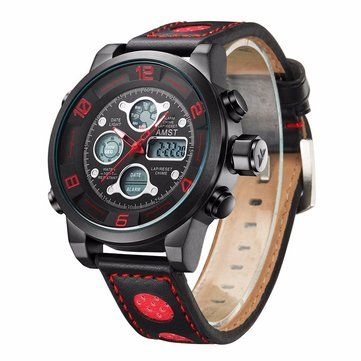 Only US$19.26 , shop AMST AM3020 Waterproof Date Week Chime Alarm LED Men Student Military Outdoor Hiking Watch at Banggood.com. Buy fashion Men Watch online.