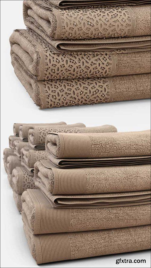 Best of The Week 3D Model Towels