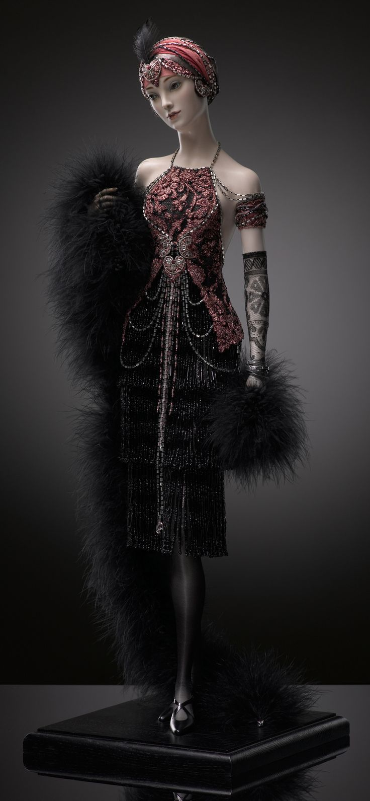 Art Deco fashion doll by Russian artisan Alexandra Koukinova