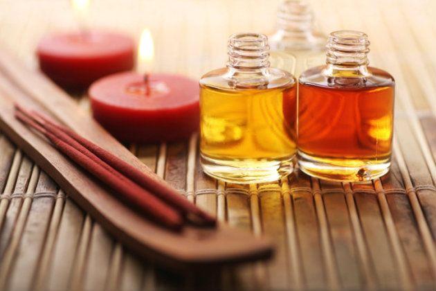Con forma de corazón: Aromaterapia