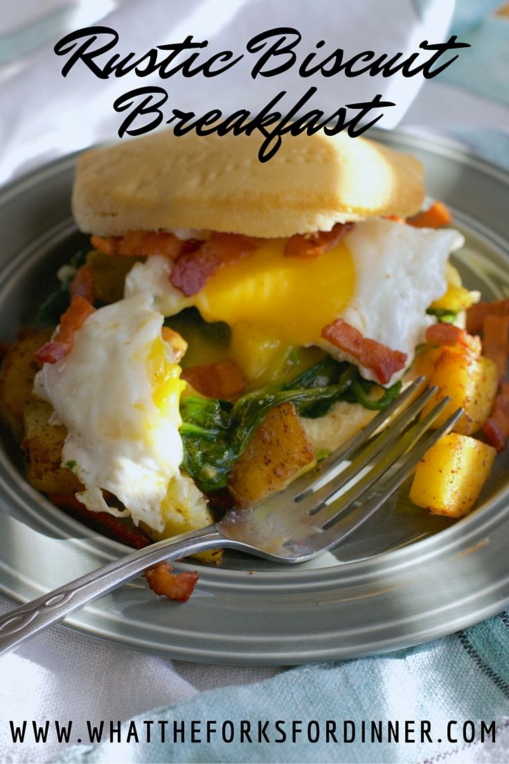 Rustic Biscuit Breakfast - Quick and easy with stuff you already have in the pantry and frig.