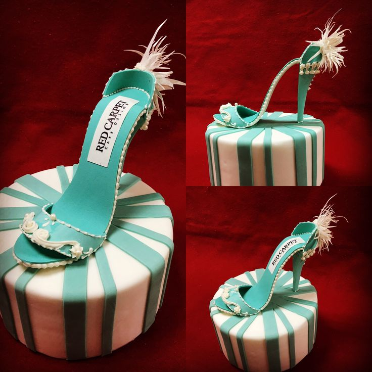 Tiffany Shoe by RedCarpetCakeDesign www.redcarpetcakedesign.it
