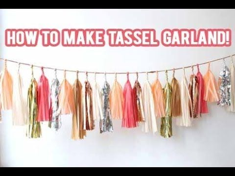how to make tissue paper garland Free download diy sewn paper garland mp3, size: 419 mb, duration:  free how to make a tissue paper tassel garland by yummy paper mp3.