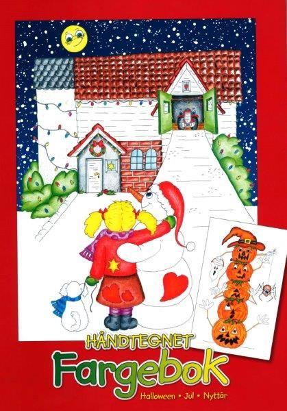 Fargebok – halloween – jul – nyttår  håndtegnet