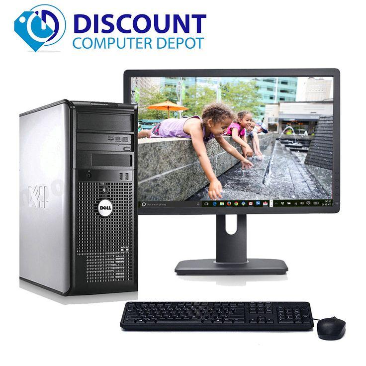 CLEARANCE!!! Fast Dell Desktop Computer PC Core 2 Duo WINDOWS 10 + LCD + KB + MS #Dell