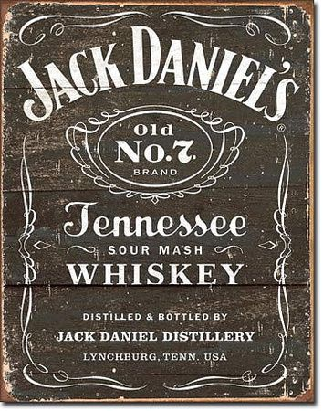 Jack Daniel's - Weathered Logo Tin Sign Tin Sign at AllPosters.com