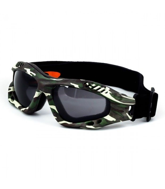 The lens system employed in the Desert Shield Goggles has an Anti Fog coating to provide clear, distortion free vision when you need it most. Ergonomic, face hugging goggles with an adjustable elastic head strap, assure you of safe, comfortable protection