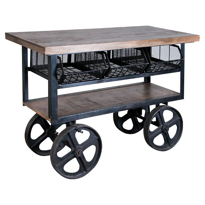 Industrial Kitchen Trolley: Industrial Style Bar Cart