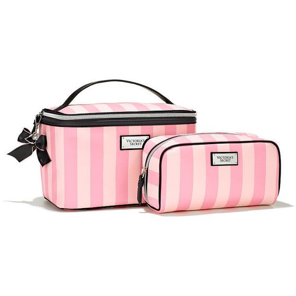 Victoria's Secret Travel Case Duo ($40) ❤ liked on Polyvore featuring beauty products, beauty accessories, bags & cases, pink, wash bag, toiletry kits, cosmetic bags, travel toiletry case and purse makeup bag