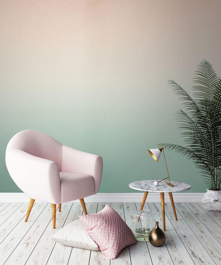 Dip Dye Ombre Gradient Interior Design | 15 Ideen für Interior Design im Dip-Dye Look. #refinery29 http://www.refinery29.de/2016/08/124655/15-ombre-stylingideen-fuer-die-eigenen-vier-waende