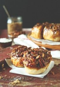 SUPER simple vegan sticky buns! Loaded with a brown sugar-pecan glaze, 9 ingredients total and SO sticky delicious