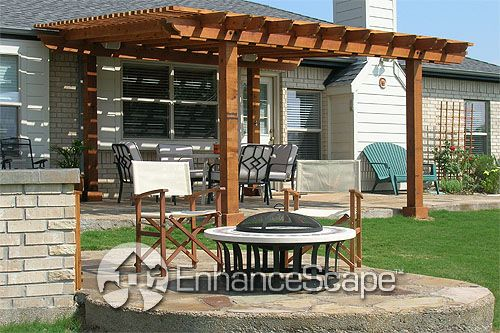 pergola: Pergolas Patio, Gardens Arbors, Back Patio, Arbors And Pergolas, Covers Pergolas, Outdoor Patio, Outdoor Spaces, Patio Ideas, Fire Pit