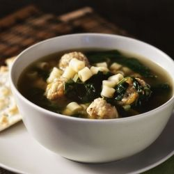 Light and Healthy Italian Wedding Soup | Recipes to try | Pinterest