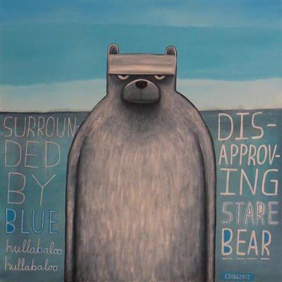 Tony Cribb.      Disapproving Stare Bear