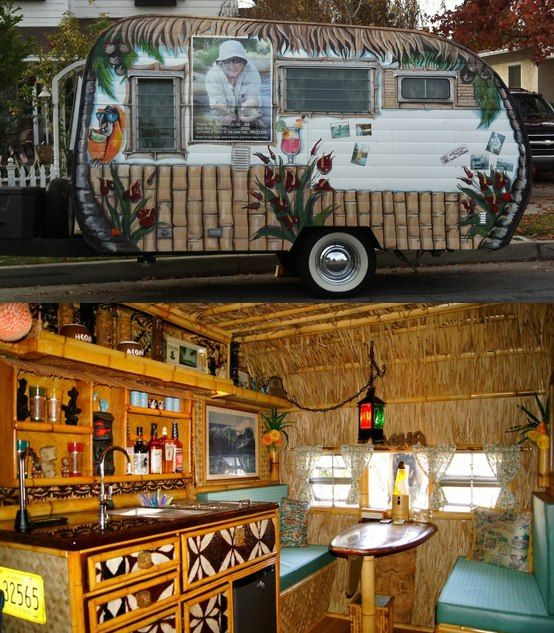 When vintage trailers and tikis combine, you know I want in on the action