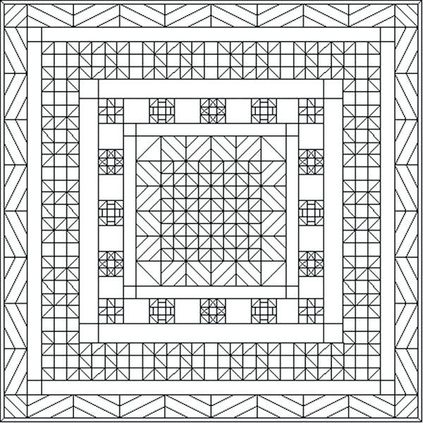 Color The Quilt Geometric Coloring Pages Coloring Pages Blank
