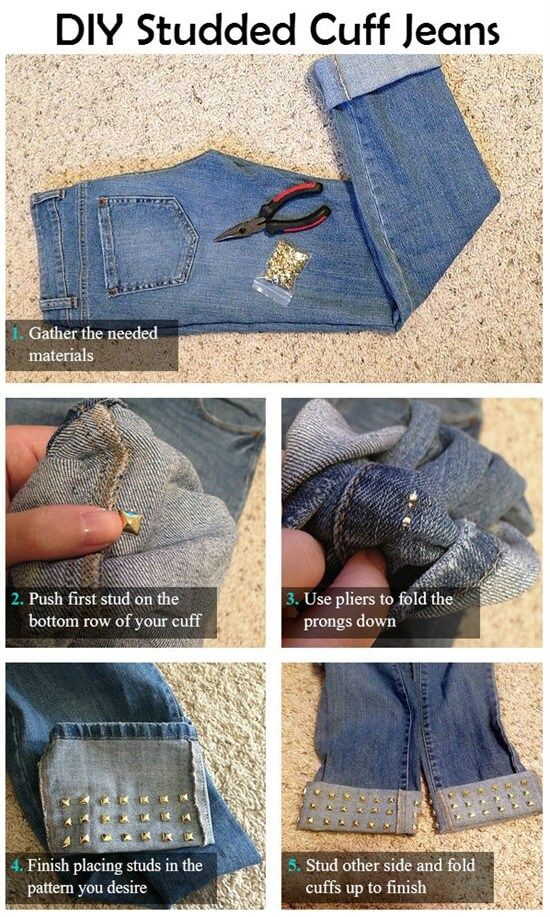 13 maneras de Re-utilizar y revivir tus viejos jeans | Decoración de Uñas - Nail Art - Uñas decoradas