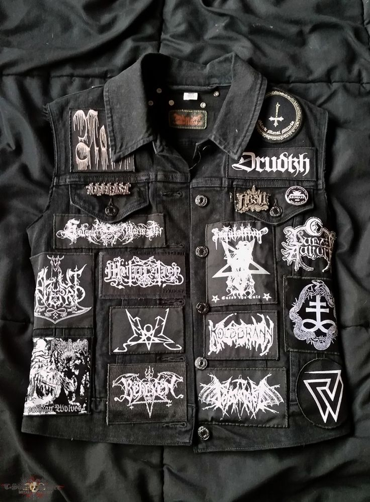 R.J.'s Baptism, Sigh, URFAUST, Black Metal Vest Battle Jacket | TShirtSlayer