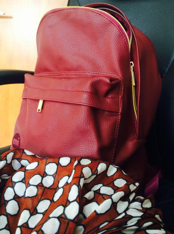 Μy #mi-pac #backpack and my favorite #scarf #alysi #fashion #trend #combination