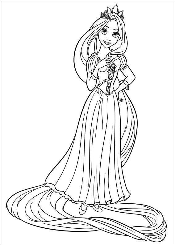 The 21 best Tangled ~ Disney Coloring Pages images on Pinterest ...