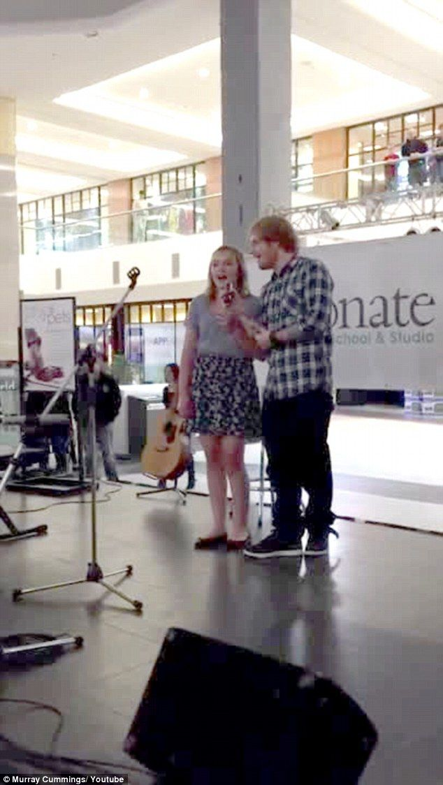 #EdSheeran shocked the life out of a fan at a shopping mall when he joined her on stage to sing one of his hits. See it all at  http://ozmusicreviews.com/ed-sheeran-joins-a-fan-to-sing-his-song-at-a-mall