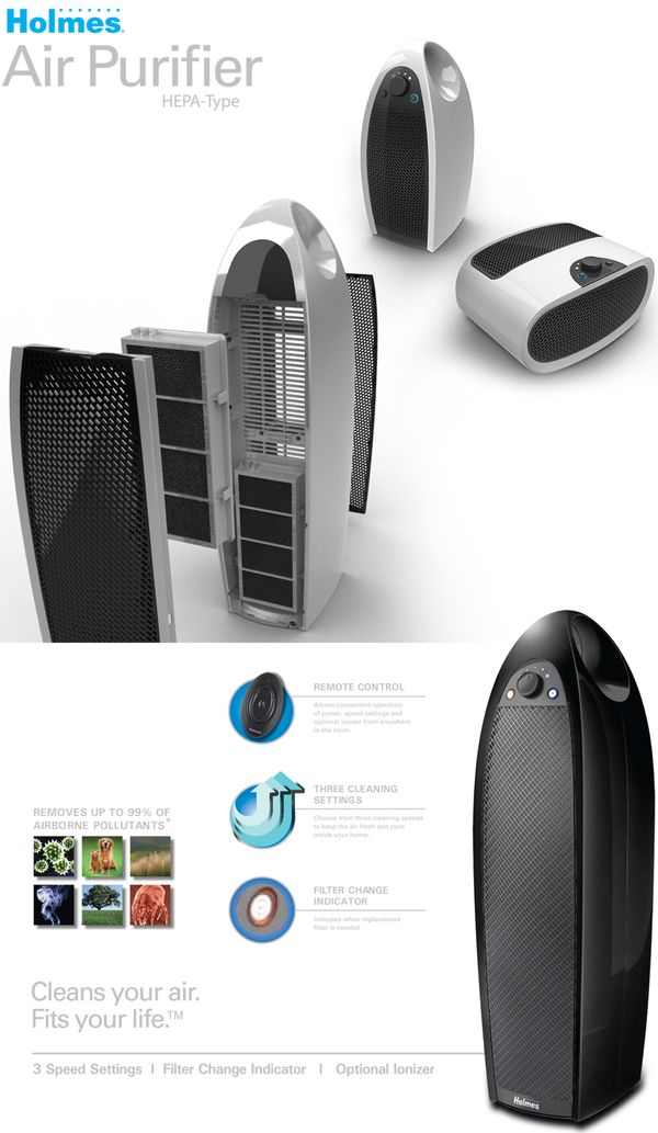JARDEN Holmes Air Purifiers by A2 Inc , via Behance