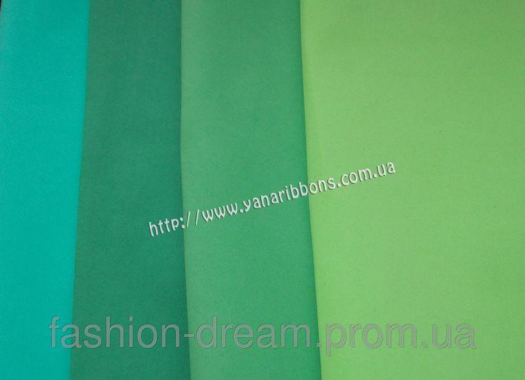 Фоамиран зеленые тона. Китай: продажа, цена в Александрии. ткани и сетки для…