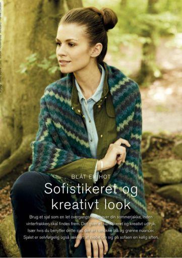 Knitting By Kaae: Sjaldesign til Kreativstrik nr 4 2014