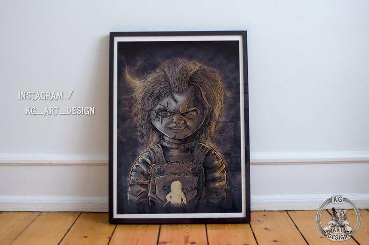 Chucky doll framed print by KGArtDesign.deviantart.com on @DeviantArt