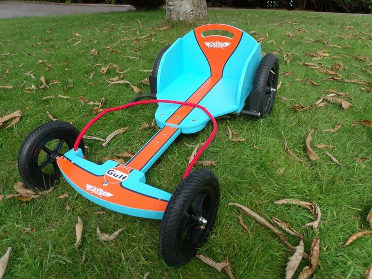 Gulf Oil Racing Kart | The Wooden Go Kart Shop