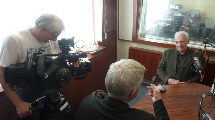 Interviewing hungarian journalist György Bolgár at Klubrádió