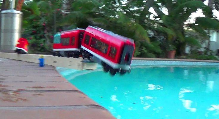 7938 LEGO City Train crash compilation